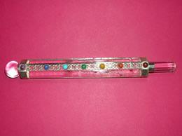 7 Chakra Clear Crystal Healing wand