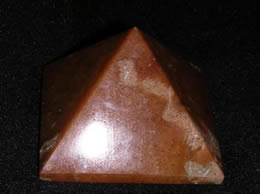 Related 55 mm Golden Agate Pyramid