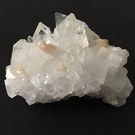 Related Apophyllite cluster with stilbite