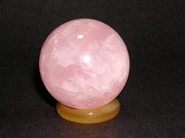 32 mm Rose Quartz Crystal Ball