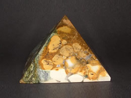 Related 77 mm Fancy Agate pyramid