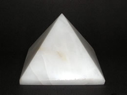 Related 60 mm White Agate Pyramid