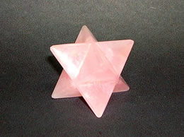 23 mm Rose Quartz Merkaba