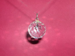 Related Faceted Quartz Crystal Ball Pendant