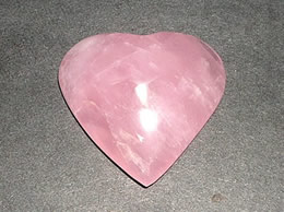 43 mm Rose Quartz Heart