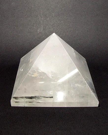 63mm Clear Quartz Crystal Pyramid