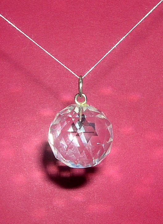 Faceted crystal ball pendant fengshui ball prana crystals faceted quartz crystal ball pendant image aloadofball Images