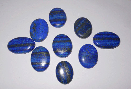 Lapis Lazuli Oval Extractor Stones Used In Crystal Healing
