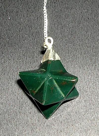 Bloodstone Merkaba Pendulum Image