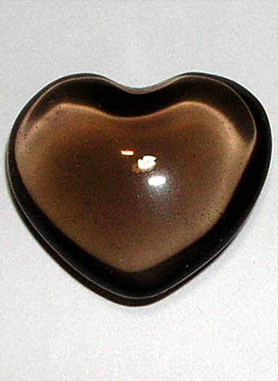 Smoky Quartz Heart Image
