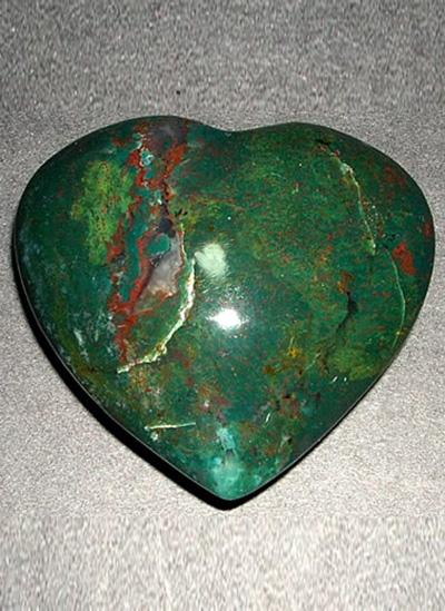 64 mm Blodstone Agate Heart Image