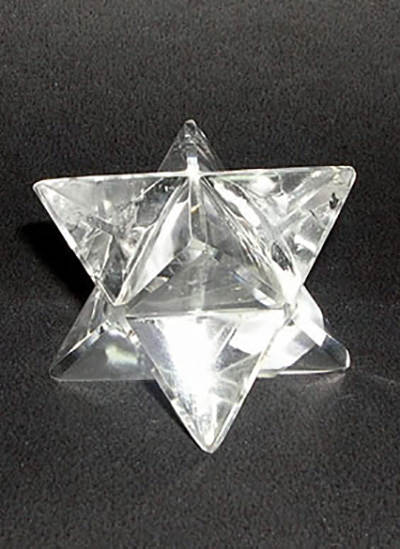 22 mm Clear Quartz Crystal Merkaba Image