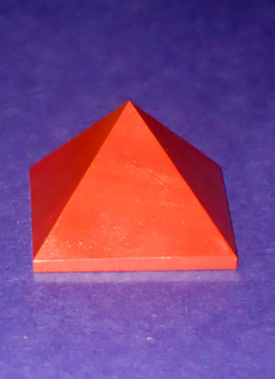 38 mm Red Jasper pyramid Image