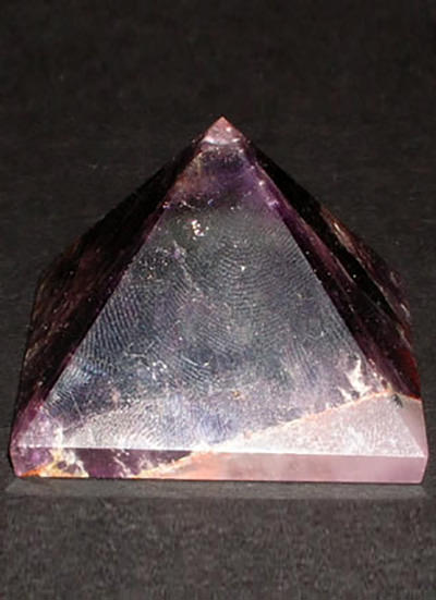 Amethyst Pyramid with Agate Base Image