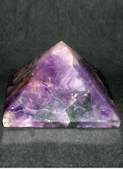 45 mm Amethyst Crystal Pyramid Image