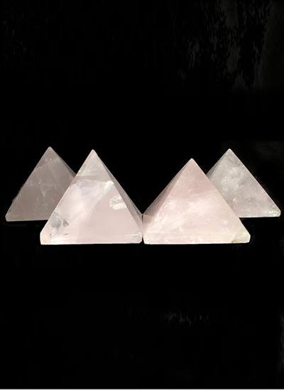 30 mm Set of 6 Rose Quartz Pyramid Image