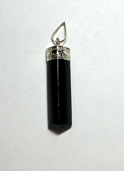 Black Tourmaline Pencil Pendant Image