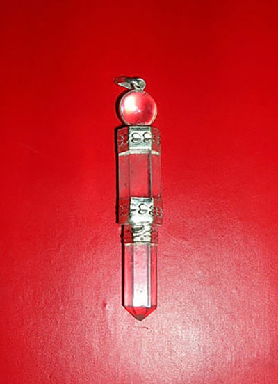 3 Piece Clear Crystal Pencil Pendant Image
