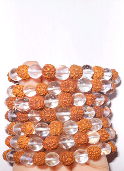 Crystal Rudraksh Bracelet Set of 7 Image