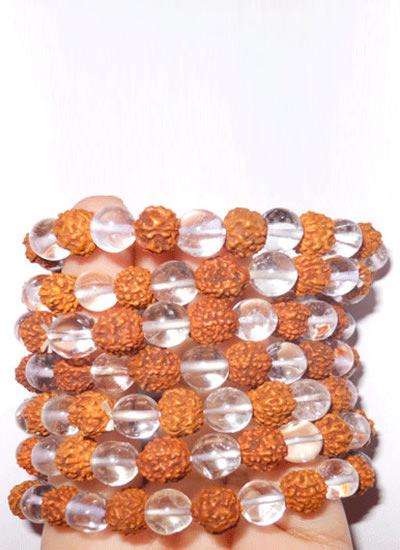 Crystal Rudraksh Bracelet Set of 7 Image