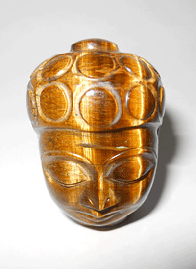 Tiger Eye Buddha head Image