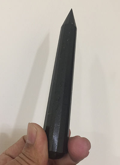 Black Tourmaline wand Image