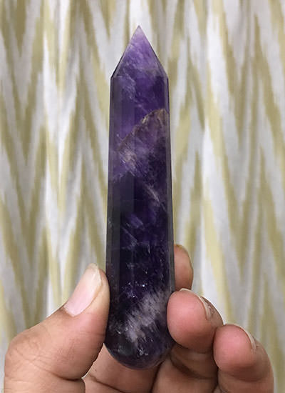 100 mm Amethyst Crystal Wand Image
