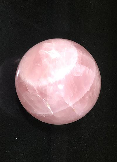Big rose quartz ball with stand Image