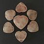 37 mm Rose Quartz Hearts Image