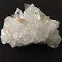 Apophyllite cluster with stilbite Image