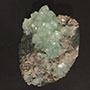 Green Apophyllite Specimen on Matrix - Prana Crystals Image