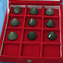 Set of 9 Small Green Aventurine Diamond shape extractors Image