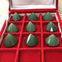 Set of 9 Medium Green Aventurine diamond shape extractors Image