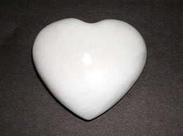White Agate Heart