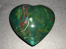 64 mm Blodstone Agate Heart