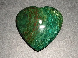 55 mm Bloodstone Agate Heart
