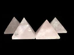 30 mm Set of 6 Rose Quartz Pyramid