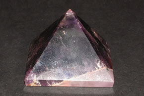 Related Amethyst Pyramid with Agate Base