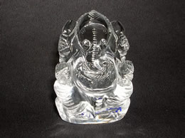 46 Gms Clear Quartz Crystal Ganesha