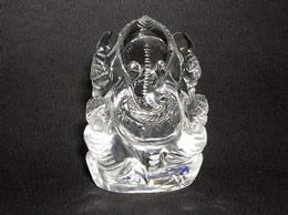 46 Gms Clear Quartz Crystal Ganesha