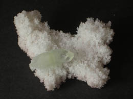 Related Double terminated Apophyllite on white matrix