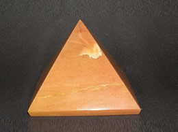 Related 61 mm Light Brown Agate Pyramid