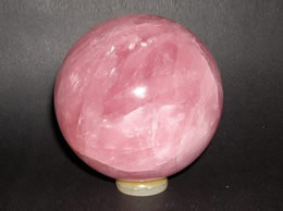 Related 89 mm Rose Quartz Crystal Ball
