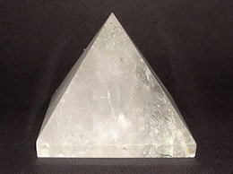 58mm Clear Quartz Crystal Pyramid