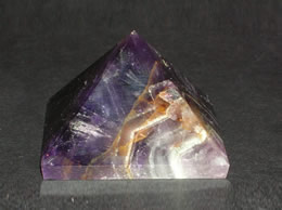 Related Amethyst Crytsal Pyramid with Ring Design