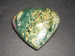 68 mm Fancy Agate Heart