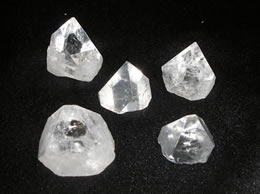 Related Set of 5 Apophyllite Pyramid