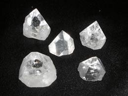 Related Set of 5 Apophyllite Pyramid