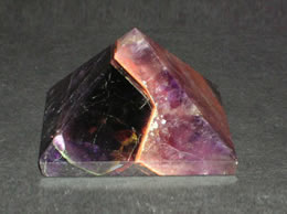 Related Amethyst Pyramid with Two Colors